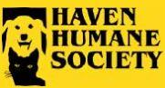 Haven Humane Society (Redding, California) logo has a dog head and a cat head placed vertically next to the organization name