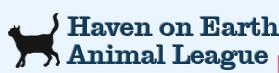 Haven on Earth Animal League (Fort Myers, Florida) logo with cat next to text