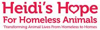 Heidi's Hope For Homeless Animals, Inc. (Wilmington, North Carolina) logo of dog and text and heart
