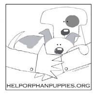 Help Orphan Puppies (Valatie, New York) logo of dogs and arms and hands