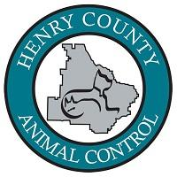 Henry County Animal Care and Control Shelter (McDonough, Georgia) logo is round with outline of dog, cat and county in center