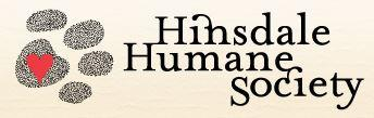 Hinsdale Humane Society (Hinsdale, Illinois) logo with pawprint and heart