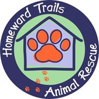 Homeward Trails Animal Rescue (Arlington, VA) logo is purple, green & orange circle with a House and Paw print in the middle