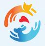Options Veterinary Care (Reno, Nevada) logo with orange cat and blue dog around red hear