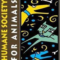 Humane Society for Animals (Rogers, Arkansas) logo dog and cat with swirls and polka dots