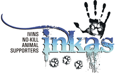 INKAS (Ivins No-Kill Animal Supporters) (Santa Clara, Utah) logo of hand and paws tattoos