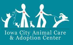 Iowa City Animal Services (Iowa City, Iowa) logo of people, hearts, dogs, cats, bunnies