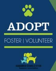Kanawha-Charleston Humane Association (Charleston, West Virginia) logo dog cat and pawprint in square adopt foster volunteer