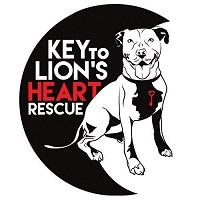 Key to Lion's Heart (Rockville, Maryland) logo is a dog with a key around its neck next to a half-moon shape with the org name
