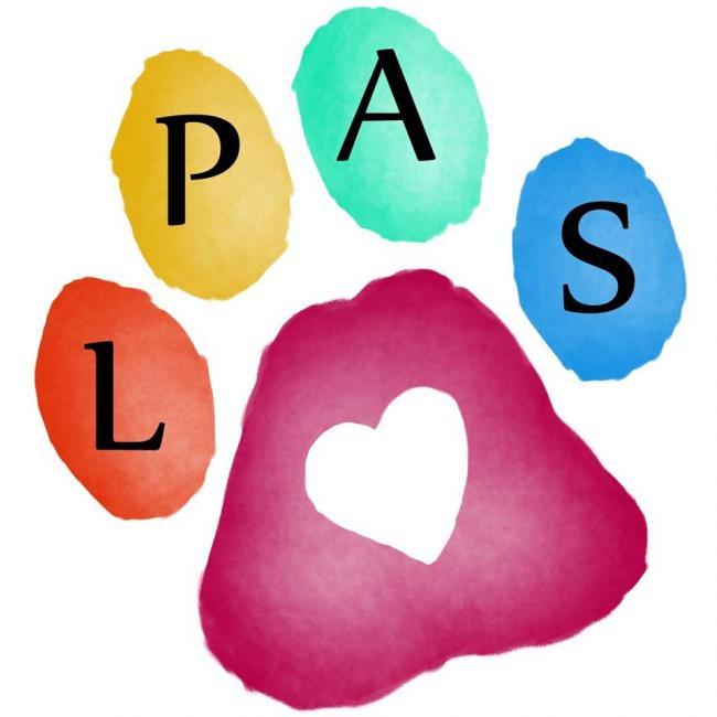 Lafourche Parish Animal Shelter (Thibodaux, Louisiana) logo multicolor pawprint with heart