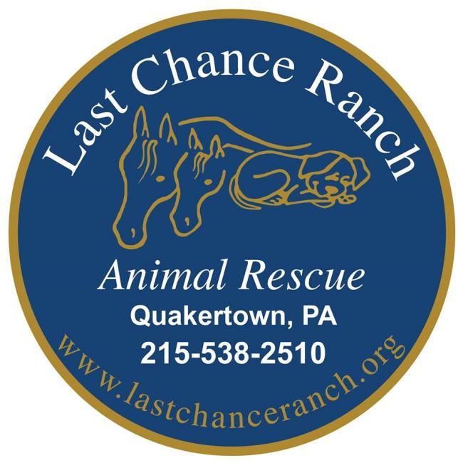 Last Chance Ranch (Quakertown, Pennsylvania) logo dog and horses in circle