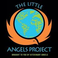 The Little Angels Project (Agoura Hills, California) | logo of blue and white globe, red cross, blue animals around the globe