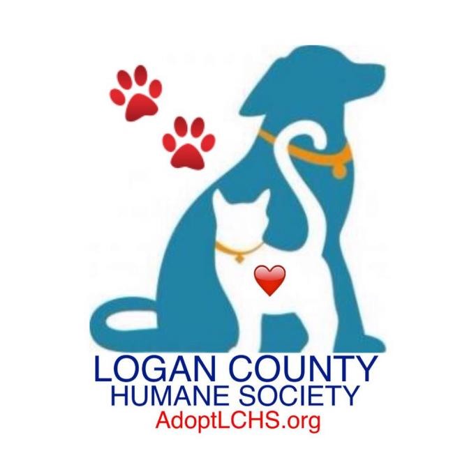 Logan County Humane Society (Russellville, Kentucky) logo dog cat and pawprint