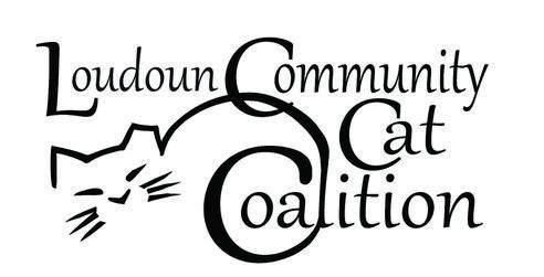 Loudoun Community Cat Coalition (Leesburg, Virginia) logo is the org name with a cat whose tail forms one of the C's