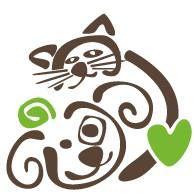 Lynchburg Humane Society (Lynchburg, Virginia) logo of dog and cat hugging with green heart Lynchburg Humane Society