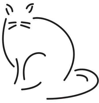 MEOW Cat Rescue (Kirkland, Washington) logo cat outline