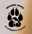 Mama Zoey and Puppies (Plainfield, Illinois) logo with dog in silhouette in paw print