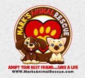 Marks Animal Rescue Inc (Mt. Hermon, Louisiana) logo cat and dog in heart pawprint