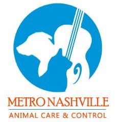 Metro Animal Care and Control (Nashville, Tennessee) logo of blue circle, dog, cat, guitar Metro Animal Care & Control