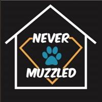 Never Muzzled (Newton Falls, Ohio) logo of paw print in house