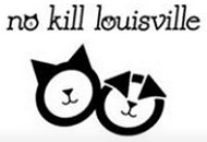 No Kill Louisville (Louisville, Kentucky) logo is a cat and dog face formed by circles below and in the organization name