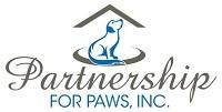 Partnership for Paws (Grand Island, Florida) of blue dog silhouette, house, roof, Partnership for Paws, Inc.