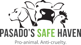 Pasado's Safe Haven (Sultan, Washington) of dog, cow, chicken silhouette, pro-animal, anti-cruelty, Pasado's Safe Haven