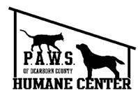 Partner for Animal Welfare Society P.A.W.S. of Dearborn County (Lawrenceburg, Indiana) of dog, cat, house