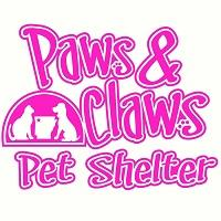 Paws & Claws Pet Shelter (Huntsville, Arkansas) of Arkansas state, star, dog, cat, paw prints, paws & claws pet shelter