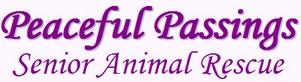 Peaceful Passings Senior Animal Rescue (Bremo Bluff, Virginia) of purple dog, butterfly, Senior and Hospice Animals