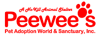 Peewee's Pet Adoption World and Sanctuary (Corpus Cristi, Texas) of red paw print, peweee's a no kill animal shelter