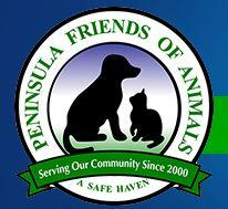 Peninsula Friends Of Animals (Port Angeles, Washington) of black dog, cat, circle, serving our community since 2000