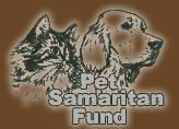 Pet Samaritan Fund (Salt Lake City, Utah) logo of cat and dog, charcoal drawings, Pet Samaritan Fund, NKUT