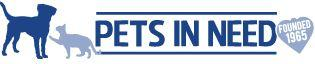 Pets In Need (Redwood City, California) logo is a cat pawing at a dog next to the organization name and a heart