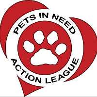 Pets In Need Action League (Casa Grande, Arizona) logo is a heart with a pawprint and the org name in a circle in the middle