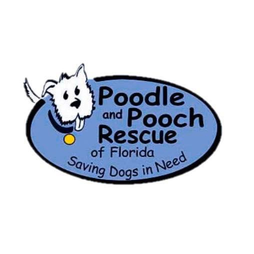 Poodle and Pooch Rescue of Florida (DeLand, Florida) logo dog head in circle saving dogs in need