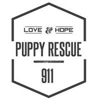 """Puppy Rescue 911 (Ellis Grove, Illinois) logo is a hexagon with """"LOVE & HOPE"""" above the organization name"""