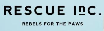 Rescue Inc (Newburyport, Massachusetts) logo is organization name on light blue background