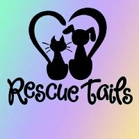 Rescue Tails (Brookhaven, Mississippi) logo is a dog and cat sitting next to each other with their tails forming a heart