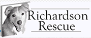 Richardson Rescue (York, South Carolina) logo is a picture of a dog head next to the organization name