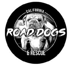 Road Dogs and Rescue (Lomita, California) logo with bulldog in circle