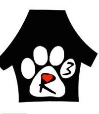 A Roof For Roofus Rescue logo of house and paw print