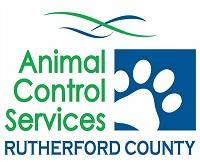 Rutherford County Animal Control Services (Rutherfordton, North Carolina)   logo of white paw, blue square, Animal Control