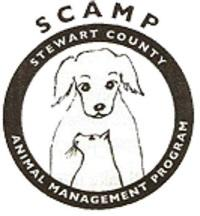 Stewart County Animal Management Program (Dover, Tennessee) | logo of circle, dog, cat, SCAMP