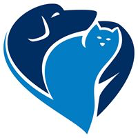 Saint Frances Animal Center (Georgetown, South Carolina) logo is a blue heart formed by a dog and cat