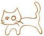 Saving Grace Rescue Inc (San Francisco, California) | logo of cat, star, whiskers, circle, paw prints, saving kittens since 2010