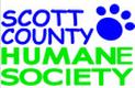 Scott County Humane Society (Georgetown, Kentucky) | logo of blue paw print, for pet's sake, Scott County Humane