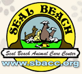 Seal Beach Animal Care Center (Seal Beach, California) | logo of circle, seal, dog, cat, rabbit, bird, bone, bowl, Seal Beach