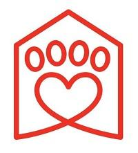 Seattle Humane (Bellevue, Washington)   logo of red heart, paw, house, Seattle Humane text