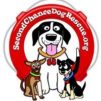 Second Chance Dog Rescue (San Diego, California) | logo of red life preserver, three dogs, San Diego, California
